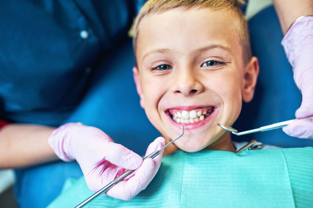 child seeing pediatric dentist steele creek